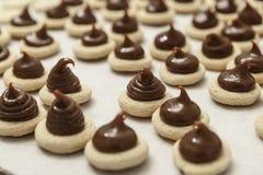 Мини печенья шоколада Стоковое Фото