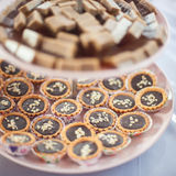 Мини пирожные шоколада стоковая фотография rf