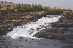 Мини поток водопада стоковые изображения rf