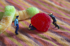 Мини полиция и место преступления Стоковые Фото