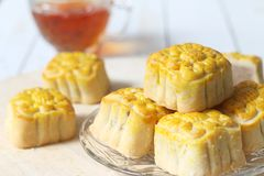 Мини mooncake, китайский традиционный торт Стоковое Изображение