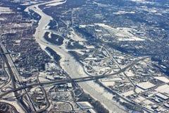 Миннеаполис в зиме стоковые изображения rf