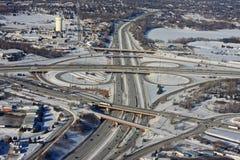 Миннеаполис в зиме стоковое изображение