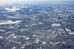 Миннеаполис в зиме стоковые изображения