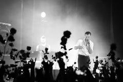 МИНСК, БЕЛАРУСЬ - 12-ое марта: ПОВРЕЖДЕНИЯ группы выполняют на этапе, 12-ое марта 2016 в Минске, Беларуси Стоковая Фотография