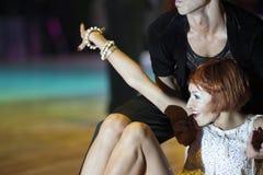Минск-Беларусь, 18-ое октября 2014: Неопознанные пары Perfo танца Стоковые Фото