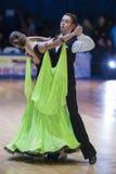Минск-Беларусь, 18-ое октября 2014: Неопознанные пары Perfo танца Стоковое Изображение RF