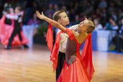 Минск-Беларусь, 18-ое октября 2014: Неопознанные пары Perfo танца Стоковые Изображения RF