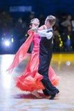 Минск-Беларусь, 18-ое октября 2014: Неопознанные пары Perfo танца Стоковое фото RF