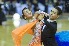 Минск-Беларусь, 5-ое октября 2014: Неопознанный профессиональный танец Стоковое Изображение RF
