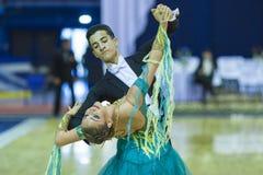 Минск-Беларусь, 5-ое октября 2014: Неопознанный профессиональный танец Стоковая Фотография