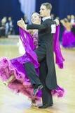 Минск-Беларусь, 5-ое октября 2014: Неопознанный профессиональный танец Стоковые Изображения
