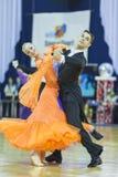 Минск-Беларусь, 5-ое октября 2014: Неопознанный профессиональный танец Стоковое Фото