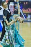 Минск-Беларусь, 5-ое октября 2014: Неопознанный профессиональный танец Стоковое фото RF