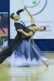 Минск-Беларусь, 5-ое октября 2014: Неопознанный профессиональный танец Стоковые Фото