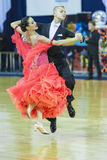 Минск-Беларусь, 5-ое октября 2014: Профессиональные пары танца Bol Стоковые Фото