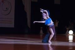 Минск-Беларусь, 4-ое октября 2014: Andrey Zaycev и Elizaveta Шер Стоковая Фотография RF