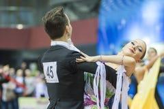 Минск, Беларусь 15-ое февраля 2015: Неопознанное профессиональное Danc Стоковое Изображение RF