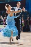 Минск, Беларусь 15-ое февраля 2015: Asonov Ilya и Asonova Alena Стоковая Фотография