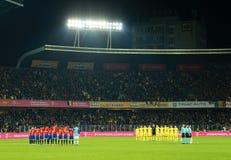 Минута молчания для памяти Johan Cruyff перед спичкой стоковое фото rf