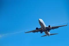 минуты посадки авиалайнера коммерчески стоковое изображение