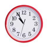 5 минут до 11 на круглой шкале Стоковые Изображения RF