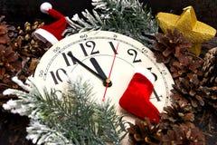 5 минут до 12 Новый Год Стоковые Фотографии RF