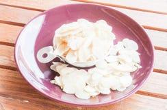 Миндалина хлебопекарни сырцовая отрезанная Стоковые Изображения
