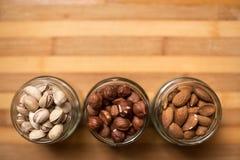 Миндалины, грецкие орехи и фундуки Стоковая Фотография