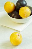 Мирабель - желтая слива Стоковое фото RF