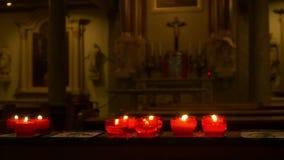 миражирует красный цвет церков сток-видео