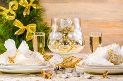 миражирует оборачивать таблицы украшения рождества Стоковые Фото