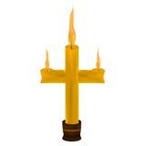Миражируйте форму креста на белой предпосылке Стоковая Фотография RF