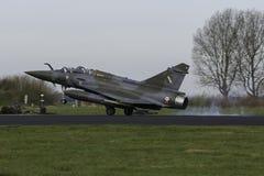 Мираж 2000 Дассо касаясь вниз после полета флага Frisian Стоковые Изображения RF