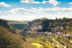 Мирная деревня rocamadour на Франции Стоковая Фотография RF