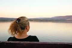 мирная женщина Стоковые Фото