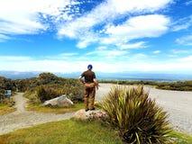 Мирная неба горного вида красивая также Стоковые Фото