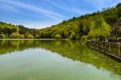Мирная перспектива озера Стоковое Фото