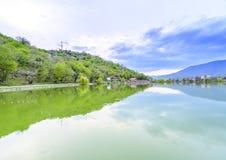Мирная перспектива озера Стоковые Изображения