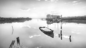 Мирная старая пристань Стоковые Фотографии RF