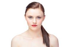 Мирная шикарная модель с представлять ponytail Стоковое Изображение RF