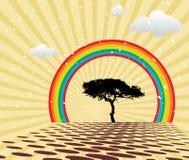 мирное лето радуги Стоковые Изображения RF