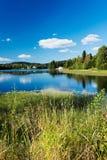 Мирное озеро на Норвегии Стоковые Изображения RF