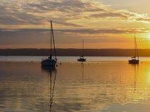 Мирное озеро Ammer стоковое изображение rf