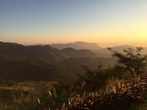 Мирное утро во время восхода солнца Стоковые Фотографии RF