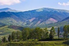 Мирный естественный ландшафт украинца Стоковые Изображения