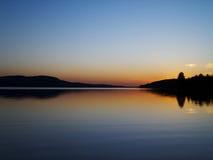 мирный заход солнца Стоковые Фото