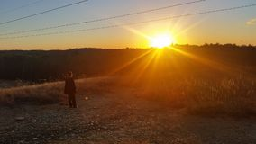 мирный заход солнца Стоковое Изображение