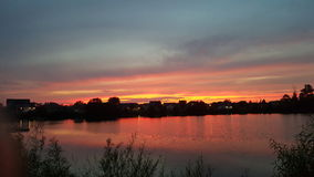 мирный заход солнца Стоковая Фотография