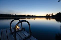 мирный заход солнца Стоковые Изображения